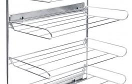 Zapatero lateral extraíble aluminio